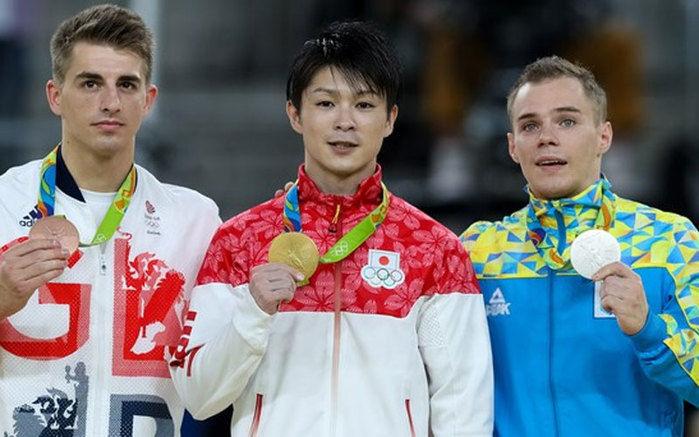 Max, Kohei e Oleg formaram o pódio da Rio 2016 (Crédito: CBG)