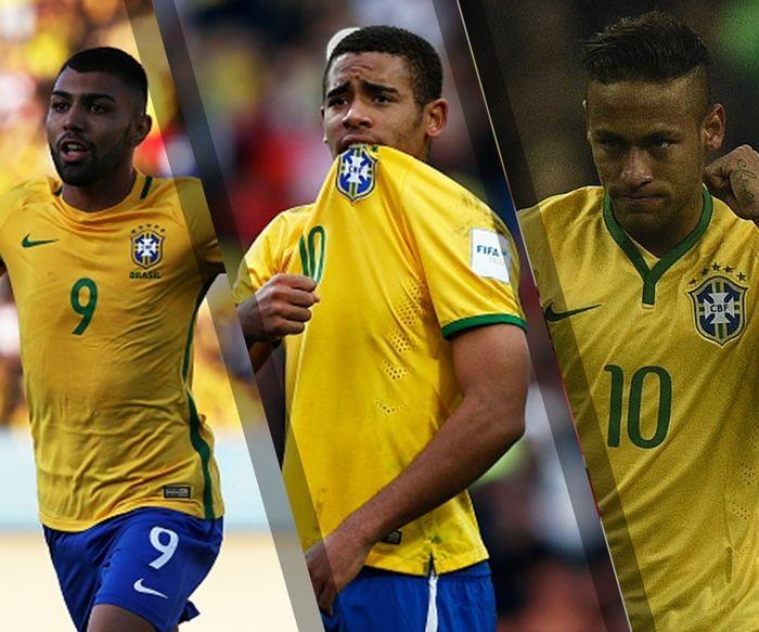 Gabriel Jesus, Gabigol e Neymar