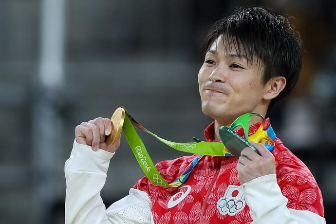 Kohei Uchimura levou mais um ouro (Crédito: AFP)
