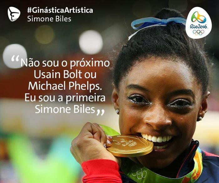 'Não sou o próximo Phelps. Eu sou a primeira Simone Biles' (Crédito: Reprodução)