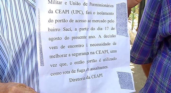 Comunicado da Ceapi (Crédito: Reprodução)