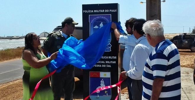 Secretário Fábio Abreu entrega obra no litoral (Crédito: Pro Parnaíba)