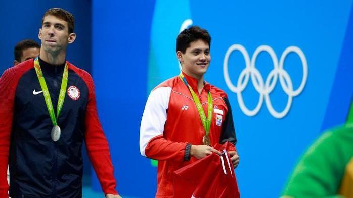 Joseph Schooling desbancou o ídolo Phelps e ainda quebrou o recorde olímpico (Crédito: Getty)