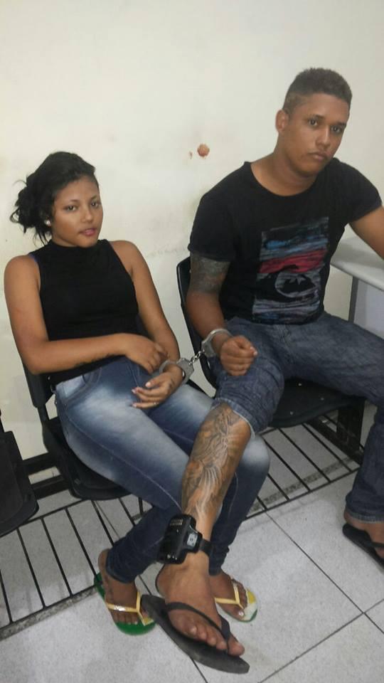 Alexandre da Silva Carvalho e Ellen Jordânia da Silva (Crédito: Reprodução)
