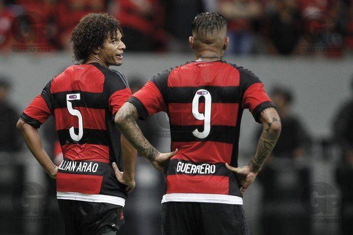 Arão e Guerrero desfalcam o Fla (Crédito: Divulgação)