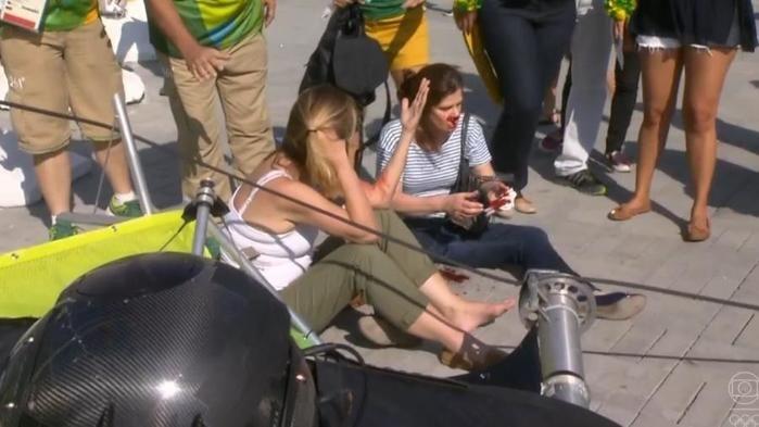 Câmera caiu dentro do parque olímpico (Crédito: Reprodução)