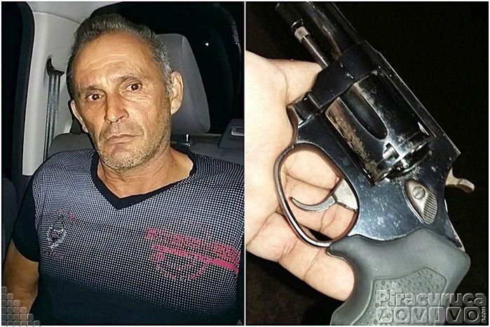 Polícia prende homem com arma  de fogo em Piracuruca (Crédito: Reprodução)
