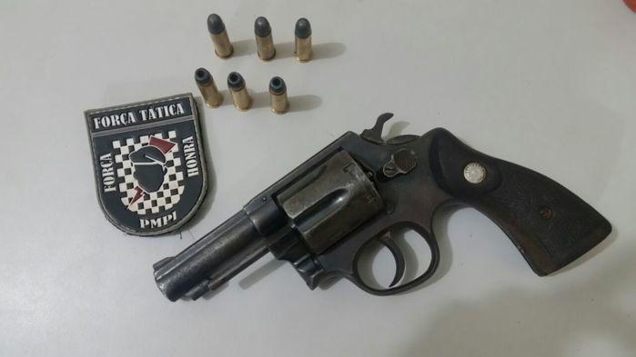 Força Tática prende casal com arma de fogo e moto roubada (Crédito: Reprodução)