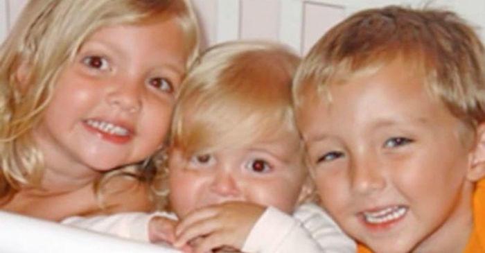 Acidente matou três irmãos, Kyle, Emma, e Katie