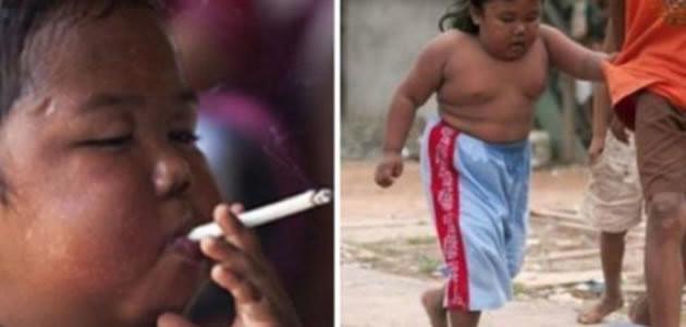 Saiba como está a criança que fumava 40 cigarros por dia