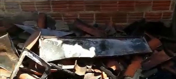 Casa ficou destruída (Crédito: Rede Meio Norte)