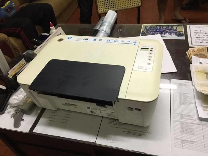Impressora apreendida com Josué da Silva (Crédito: Divulgação)