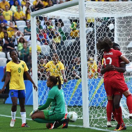 Rose balançou as redes da Arena Corinthians na etapa inicial (Crédito: AFP)