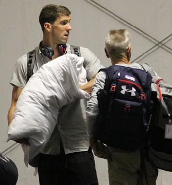 Michael Phelps desembarca no Rio  (Crédito: Fabrício Marques)