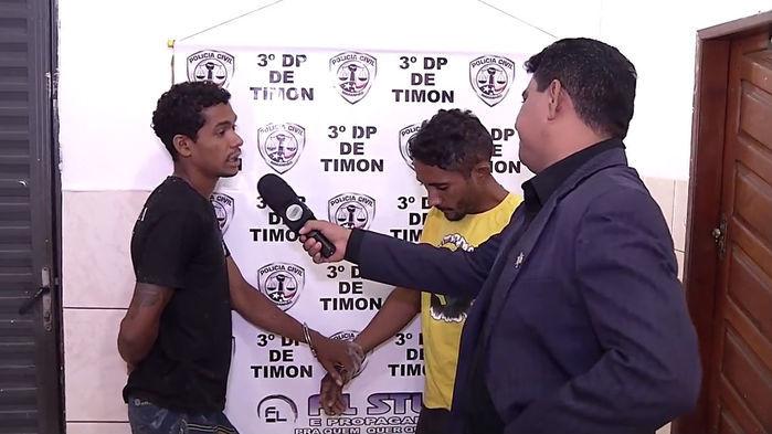 Homens presos por furto em Timon-MA (Crédito: Reprodução)