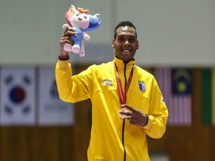 Maicon Andrade conquista o bronze (Crédito:  Divulgação/CBDU)