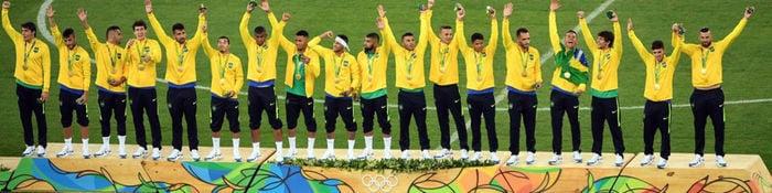 Com título no futebol, Brasil bate recorde de ouro em uma olimpíada