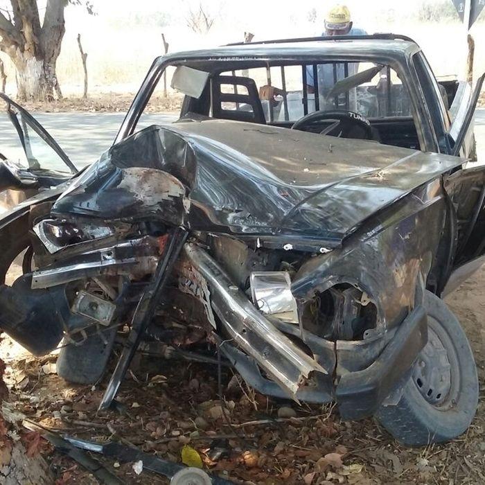 Ford Pampa  envolvida no acidente (Crédito: Informnoticia)