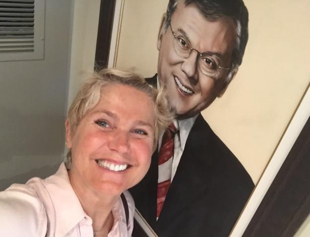 Xuxa visitou apartamento de Milton Neves (Crédito: Divulgação)