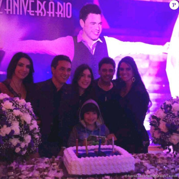 Graciele faz festão para Zezé, e filhas do sertanejo não comparecem (Crédito: Reprodução)