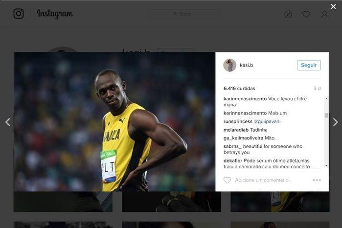 Após traição, brasileiros mandam conselhos para namorada de Bolt (Crédito: Reprodução)