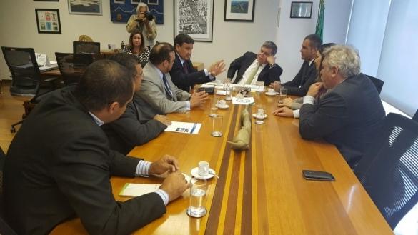 Encontro com ministro do Meio Ambiente, Sarney Filho (Crédito: Ccom)
