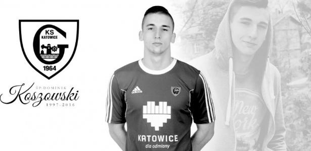 GKS Katowice presta homenagem a Dominik Koszowski, morto no último domingo (Crédito: Reprodução)