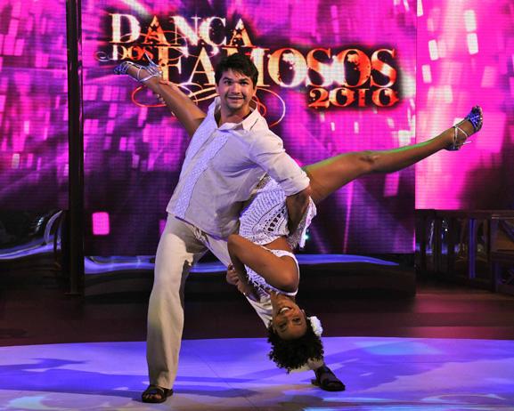 Marcelo Grangeiro e Sheron Menezzes na 'Dança dos Famosos'