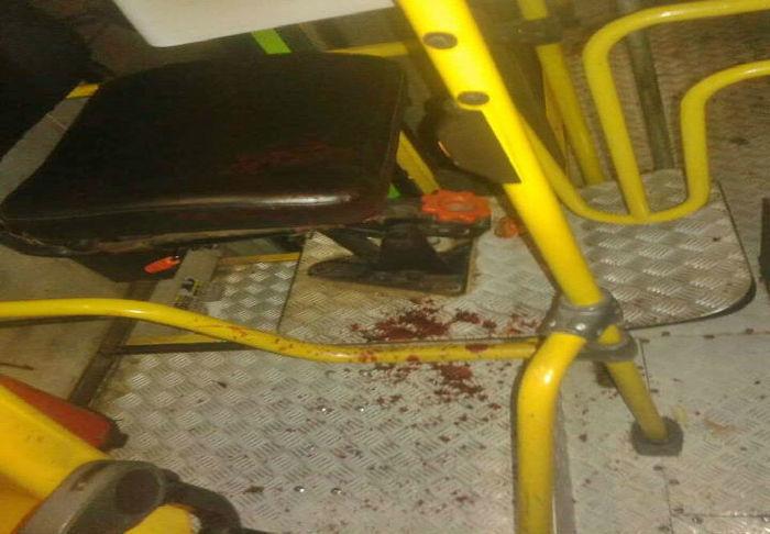 Sangue deixado no local após  o assalto (Crédito: Divulgação)