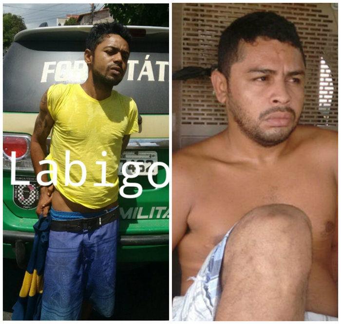 Os dois acusados de assaltos em Teresina (Crédito: Divulgação)
