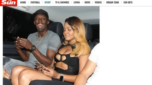 Badalação de Usain Bolt (Crédito: Jornal Extra)
