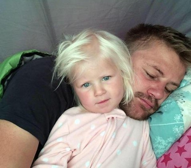 Rudy Bruynius ao lado da filha Mckayla