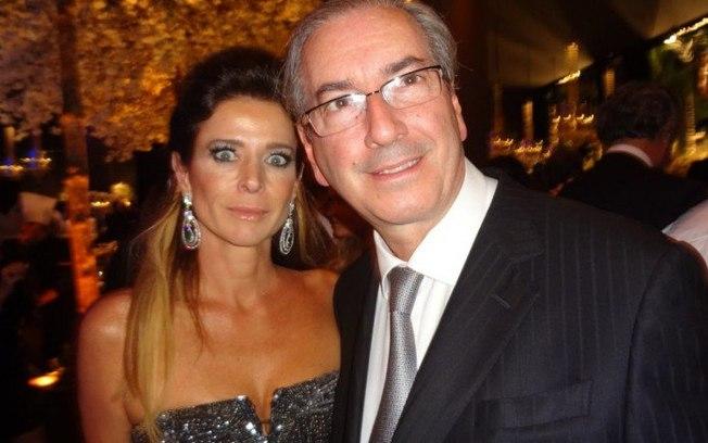 Cláudia Cruz ao lado do marido, o ex-presidente da Câmara, Eduardo Cunha