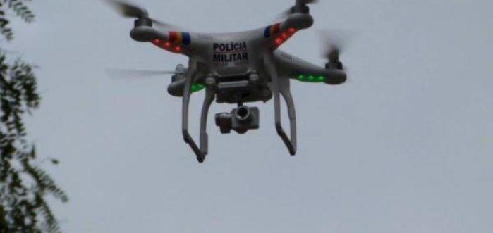 Drone utilizado pela Polícia Militar (Crédito: Picos 40 Graus)