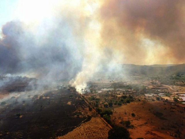 Incêndio registrado no Piauí (Crédito: Reprodução)