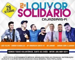 2º Louvor solidário acontecerá dia 28 de set. em Cajazeiras do PI