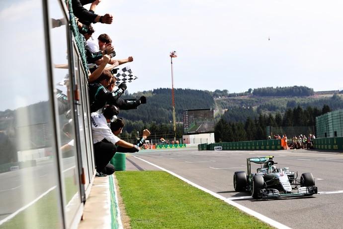 Nico Rosberg vence GP da Bélgica de Fórmula 1 em 2016 (Crédito: Getty)
