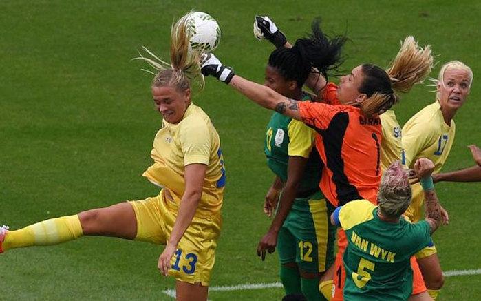 Suécia venceu África do Sul  (Crédito: AFP)