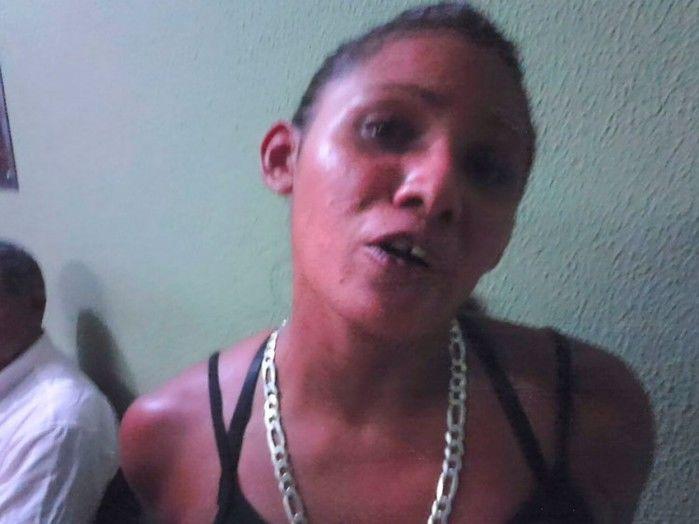 Patrícia Gomes foi presa com maconha (Crédito: Piripiri 40 graus)