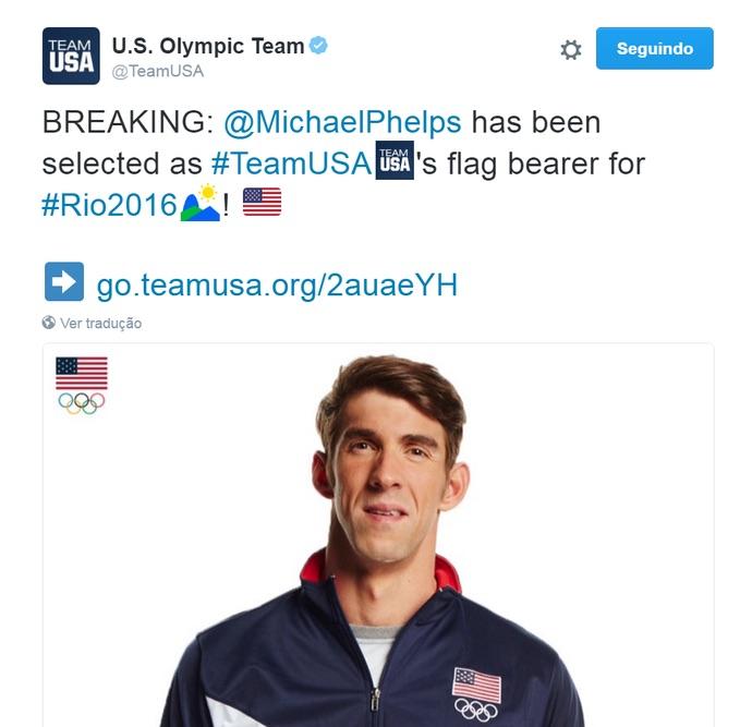 Anúncio de Michael Phelps (Crédito: Reprodução)