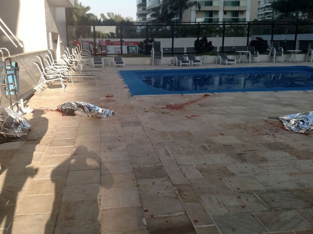 Corpos caíram do 18º andar do Edifício Lagoa Azul, que fica no Condomínio Pedra de Itaúna, na Barra da Tijuca