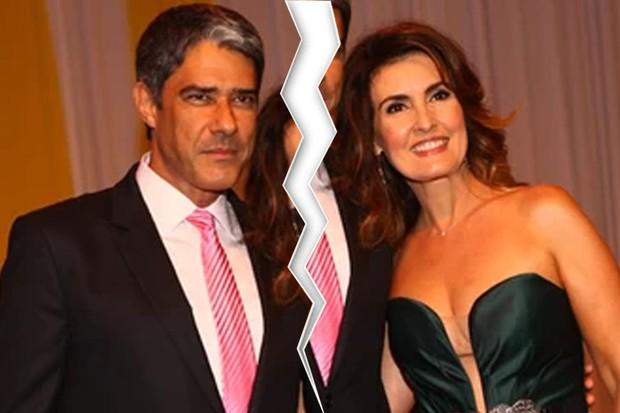 William e Fátima anunciaram separação no Twitter (Crédito: Reprodução/ Rede Globo )