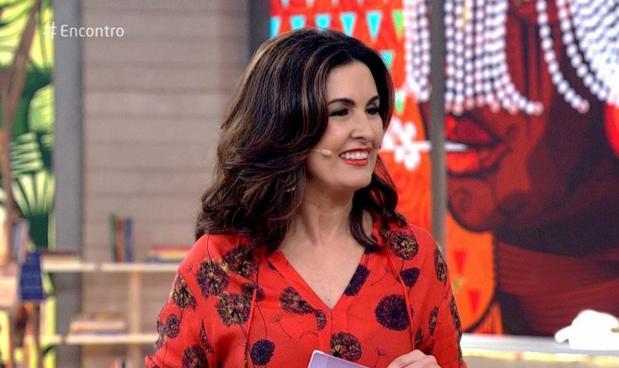 Fátima não falou sobre separação no 'Encontro' (Crédito: Reprodução/ Rede Globo )