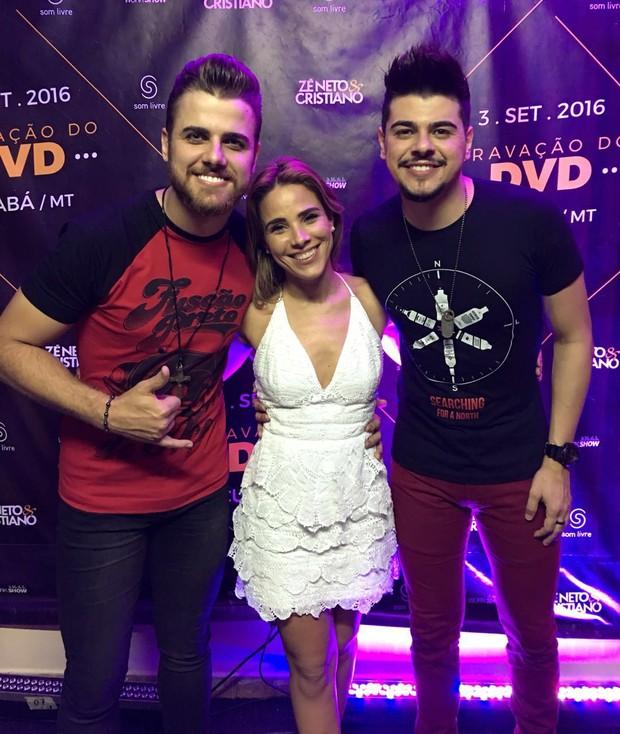 Wanessa Camargo com a dupla sertaneja Zé Neto e Cristiano (Crédito: Brazil News)