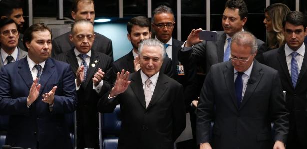Michel Temer no senado (Crédito: Estadão)