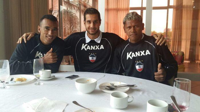 Índio (do lado direito), com os jogadores (Crédito: Reprodução)