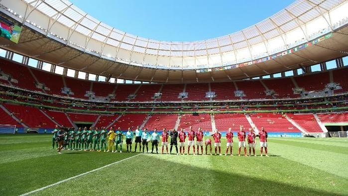Dinamarca e Iraque se enfrentam em um Mané Garrincha vazio (Crédito: FolhaPress)