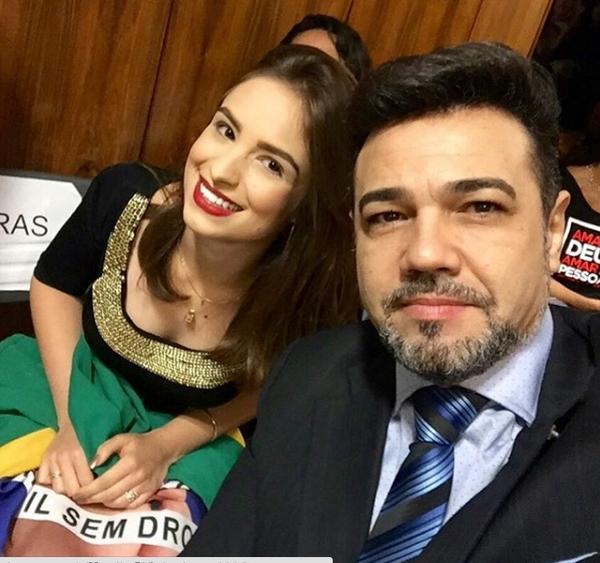 Patrícia e Feliciano (Crédito: Reprodução)