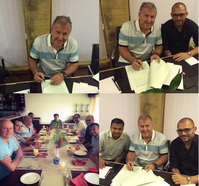 Zico assina contrato com o FC Goa para a disputa da Superliga da Índia (Crédito: Reprodução)