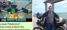 'Motoboy do Pokémon' cobra R$ 25 para capturar bichinhos no Ceará